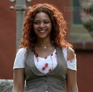 beyonce on the set june 24, 2008